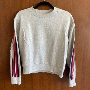 Topshop Grey Stripe Comfy Sweatshirt
